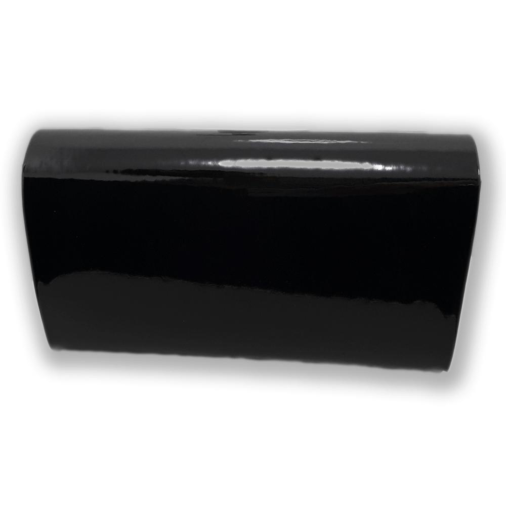 f91335ed8696c Czarna torebka kopertówka wieczorowa lakierowana